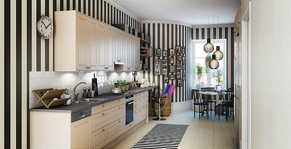 20 skandinavische Küchen Designs - attraktive Einrichtung Ideen - wohnzimmer mit kuche ideen