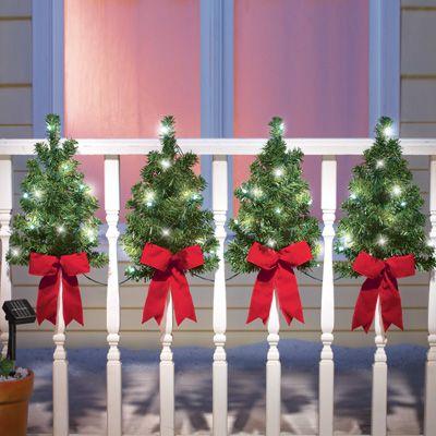 Solar Christmas Trees Wall Fence Decor Christmas Yard Decorations Christmas Decorations Outdoor Christmas Decorations