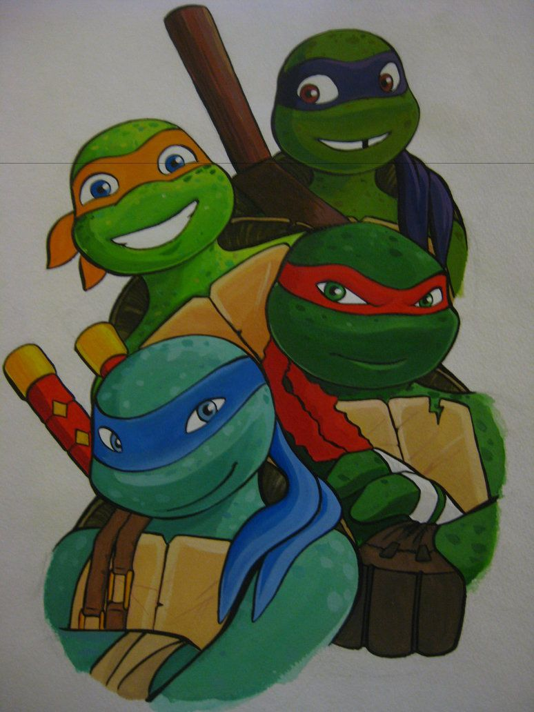 Ninja Turtle Nails: Love! Thanks, Marci! :)