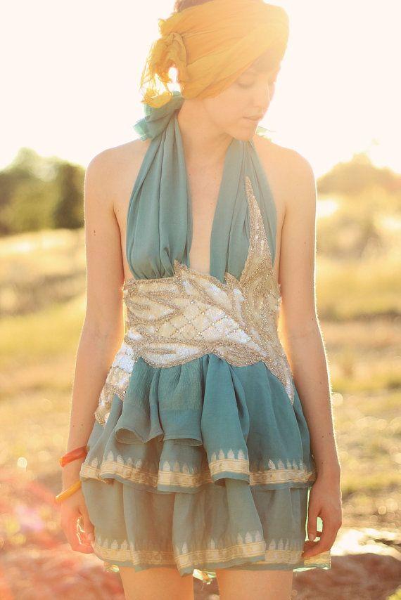 turquoise birthday dress