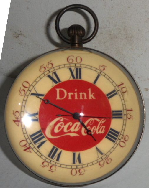 Coke Watch Old Advertising Clocks And Thermometers Etc