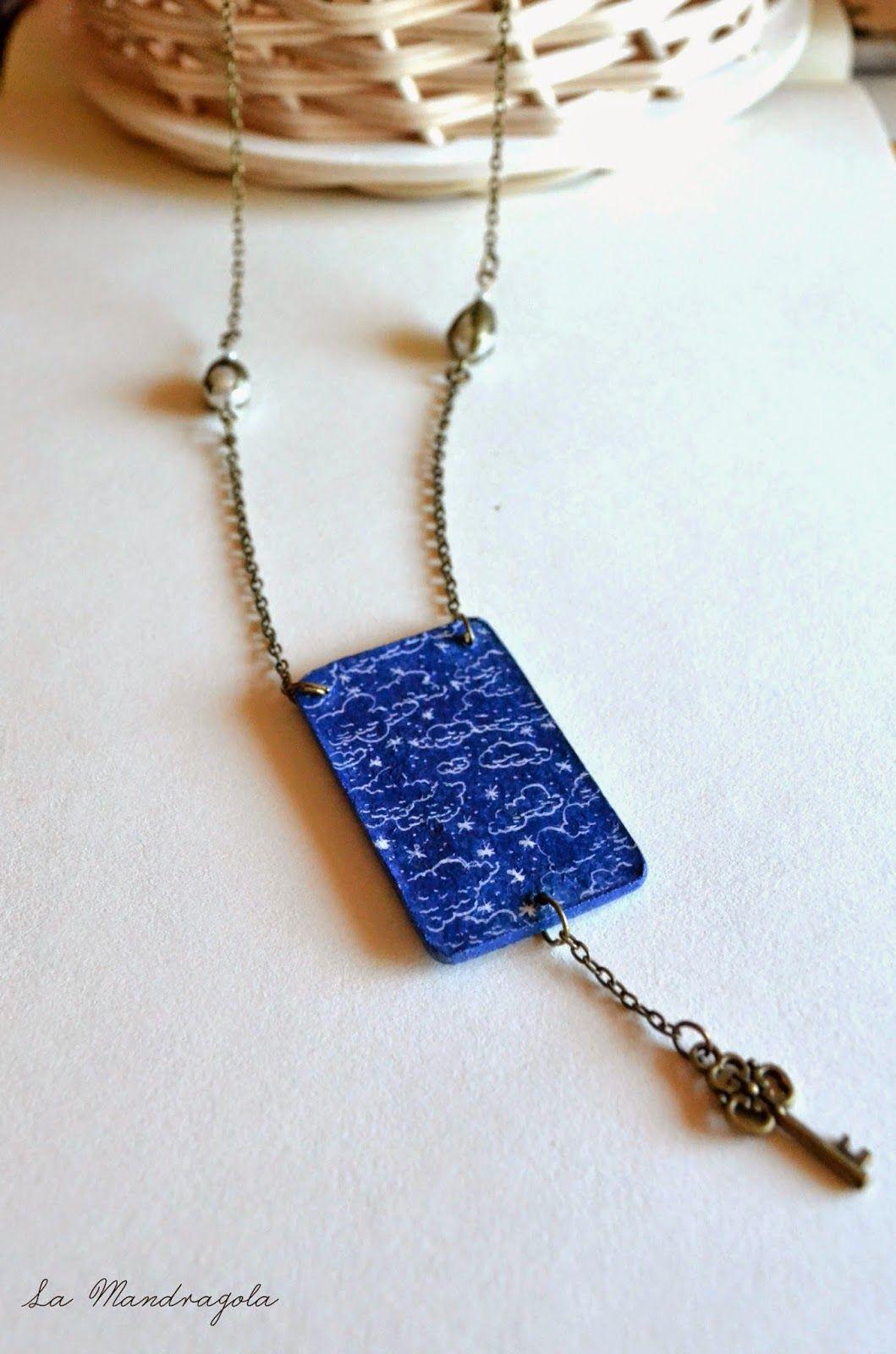 #sky  #necklace #handmade