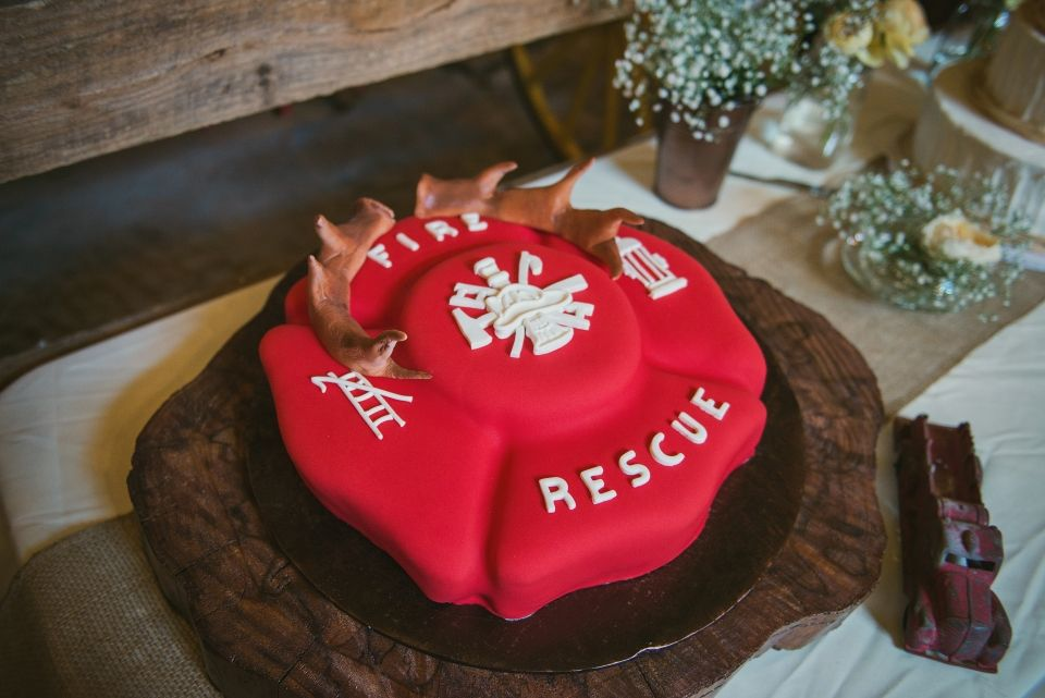 Surprise Firefighter Proposal Real Rustic Wedding Firefighter