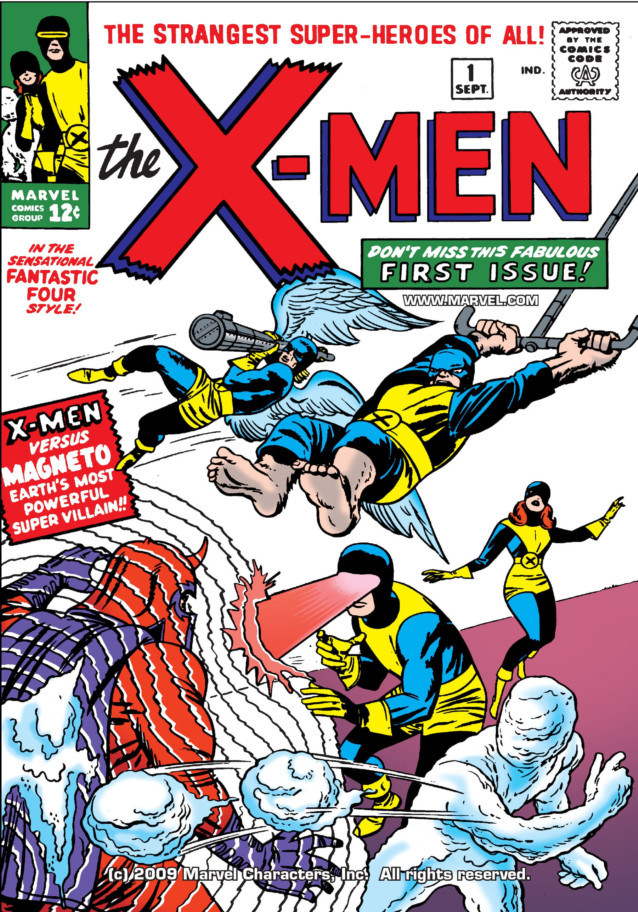 Uncanny X Men 001 1963 Digital First Appearance Of X Men Cyclone Marvel Girl Ice Man Angle B Marvel Comics Covers Comic Book Covers Comic Books