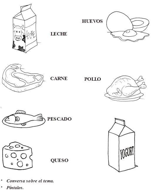 Alimentos de origen animal ~ Maestras Jardineras | jardin de niños ...