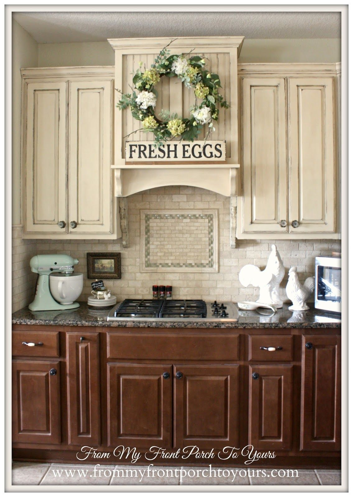 contrasting kitchen cabinets french farmhouse kitchen from my front porch to yours