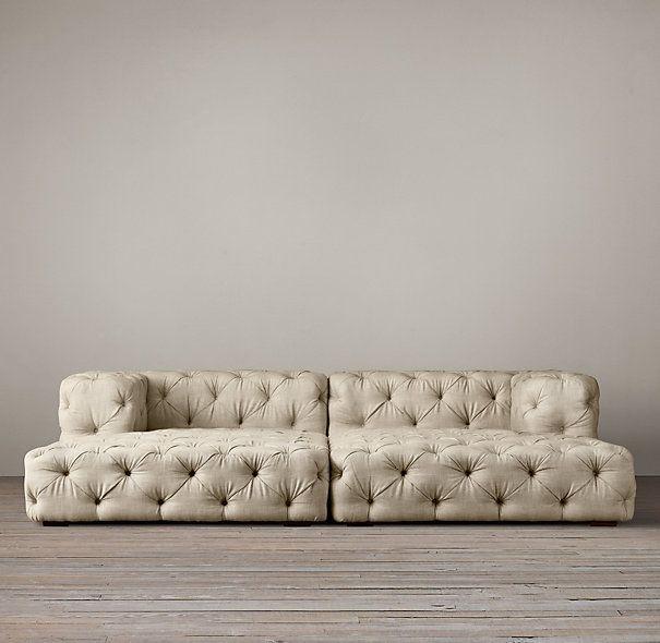 Soho Tufted Upholstered Daybed Restauration Hardware DESIGN - Tufted upholstered sofa