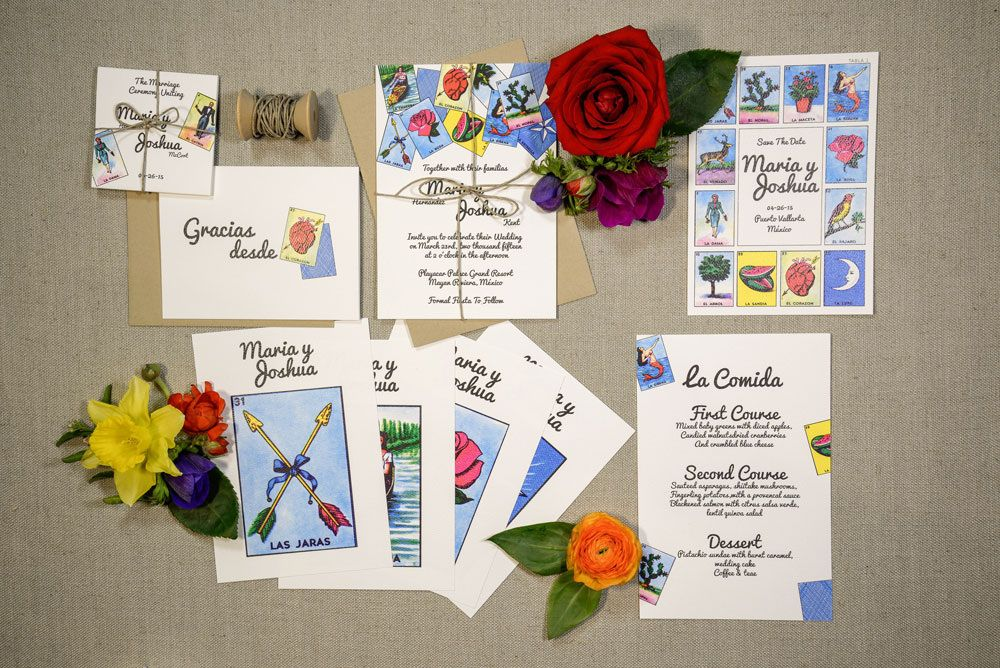 Great Wedding Invitations For A Mexican Wedding Loteria
