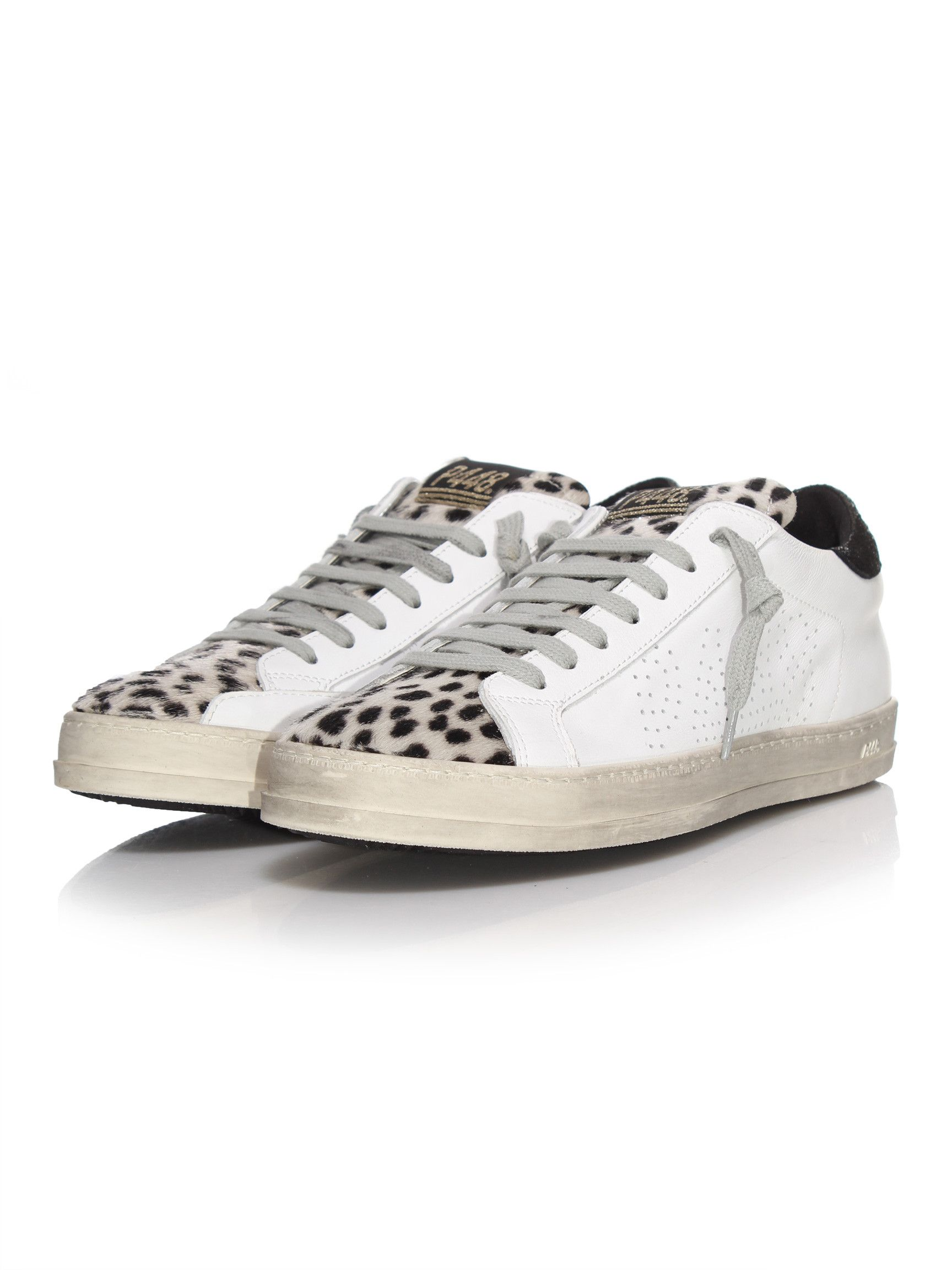 Chaussures à lacets P448 blanches Casual femme lAjeqy63Ua