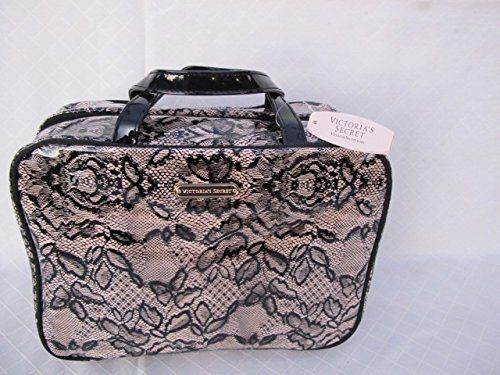 Victorias Secret Black Lace Hanging Makeup Cosmetic Travel