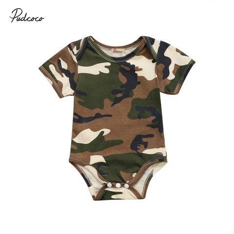 24a1bf94281f Newborn Baby Boys Girls Romper Cute Infant Baby Army Green ...