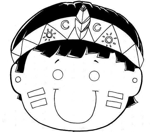 Baú da Web: Máscaras de Índio para imprimir e colorir | INDIOS ...