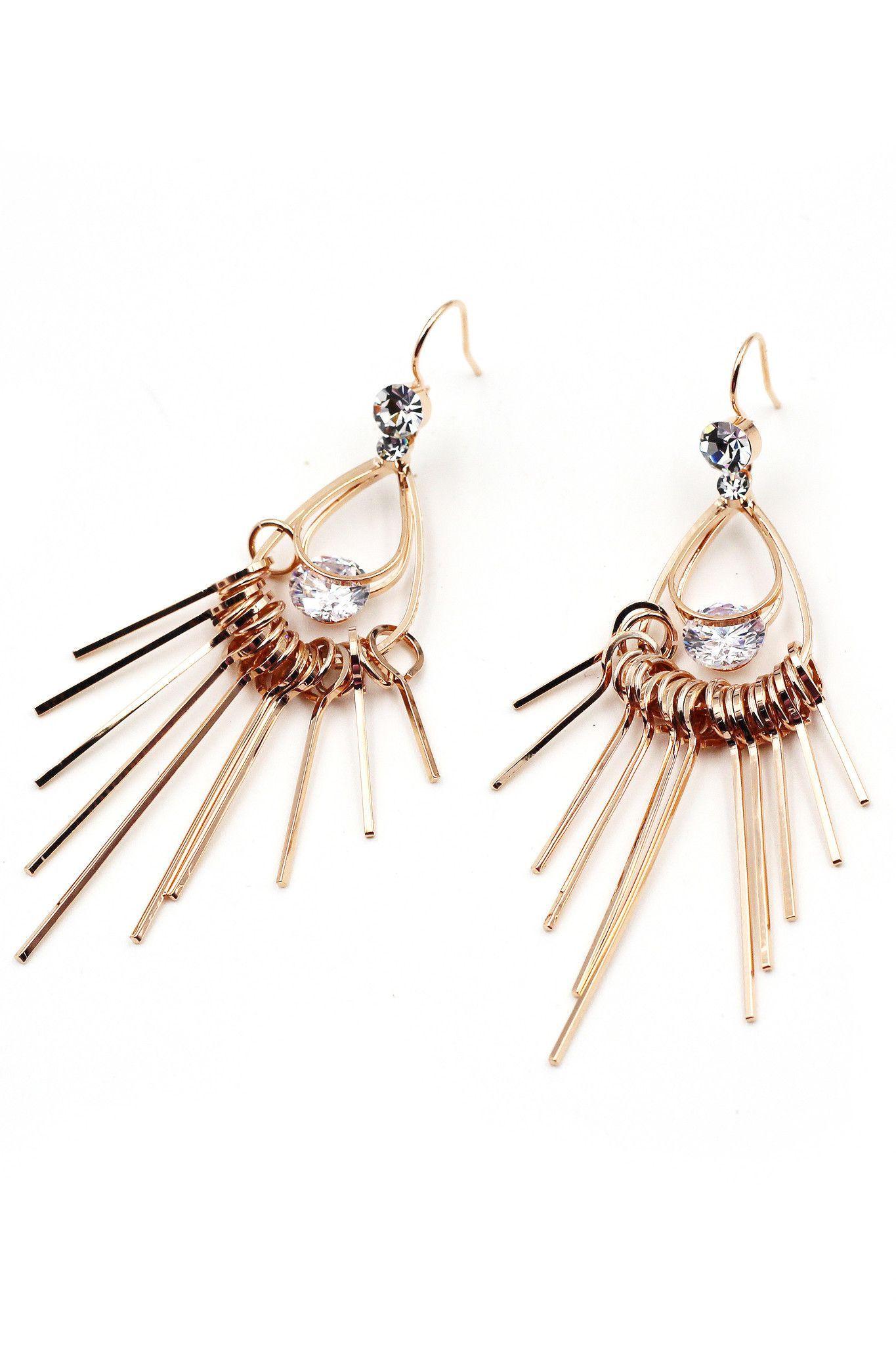 Noble Popular metal crystal earrings