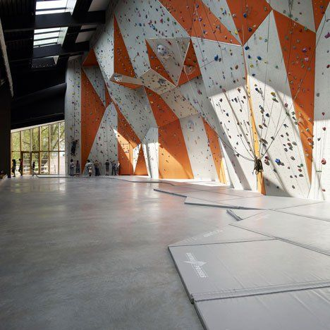 Le Polyedre By Beal And Blanckaert Climbing Wall Indoor Rock Climbing Rock Climbing Wall