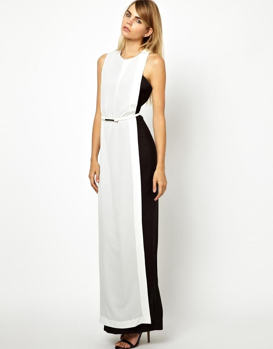 Solace solace london levan maxi dress in color block at asos