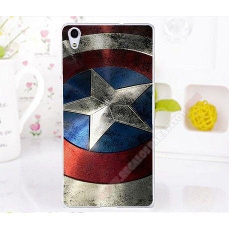 Carcasa plástica diseño elegante capitán América para tu móvil Ascend P6
