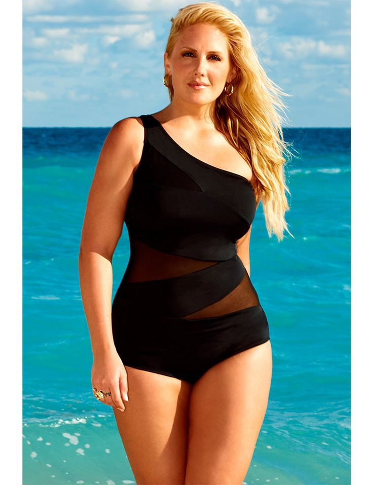 7cf81b648665f I am not skinny or fit but i would love to gain weight like this! One piece  swim suit for curvy girls. Plus Size Swimwear ...