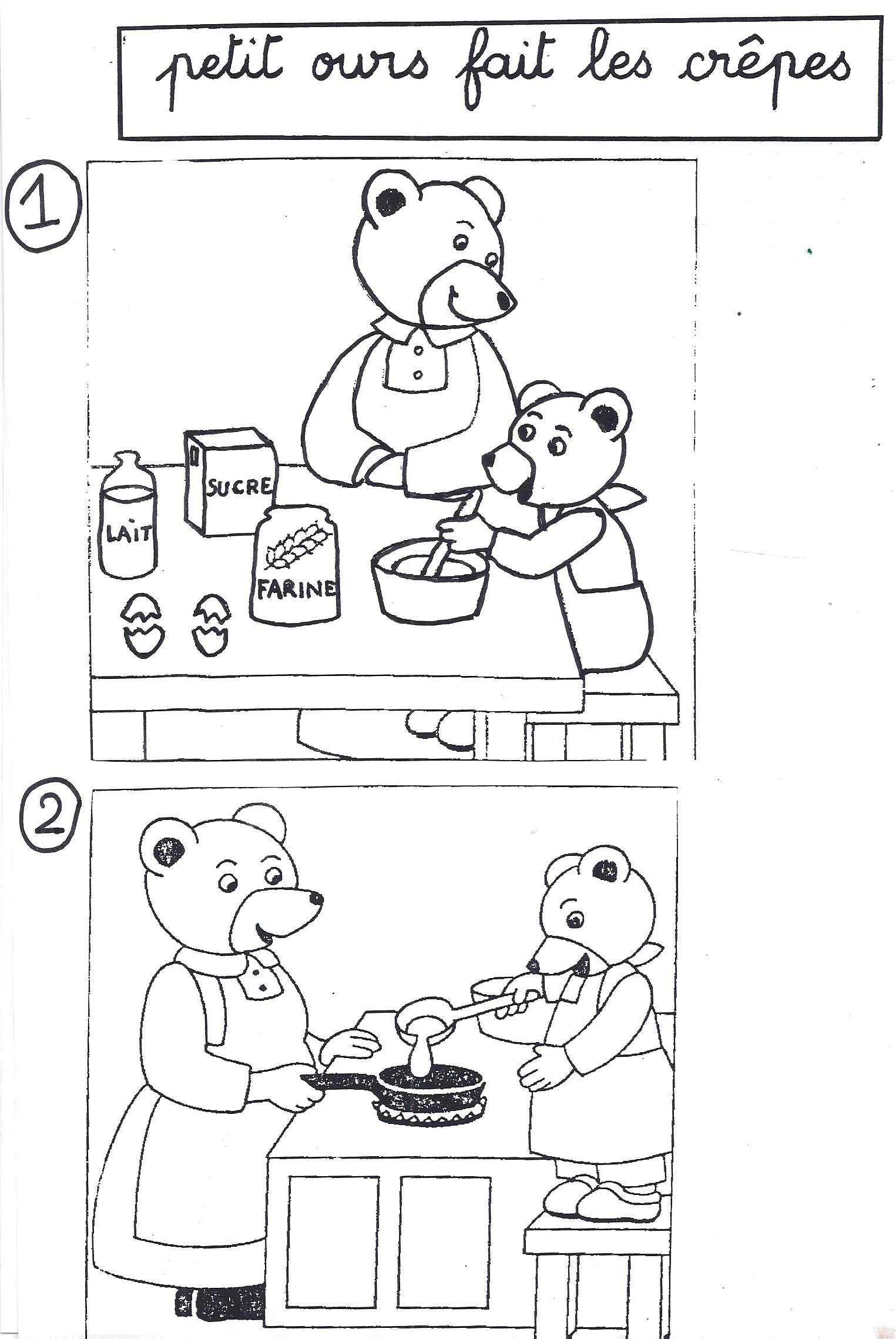 images squentielles petit ours brun prpare des crpes avec sa maman - Petit Ours Brun Telecharger