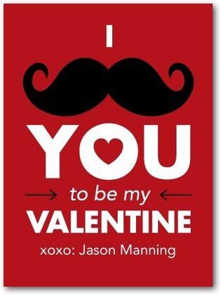 ValentineS Day Cards For Kids Mustache Marvel  Front  Scarlet