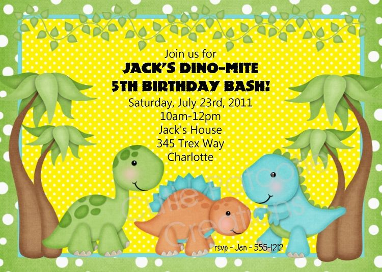 Dinosaur Birthday Invitation Printable Or Printed Dinosaur Birthday Invitations Dinosaur Birthday Party Invitations Dinosaur Birthday Invitations Printable