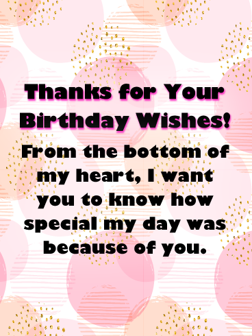 The Bright And Bubble Background Thank You Cards For Birthday Wishes Birthday Greeting Cards By Davia Thank You Messages For Birthday Birthday Wishes For A Friend Messages Birthday Wishes