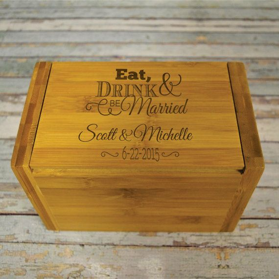 Hey, I found this really awesome Etsy listing at https://www.etsy.com/listing/193953672/recipe-box-personalized-eat-drink-be