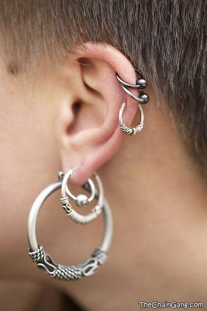 Ear Piercing Jewelry Lobe Conch Schmuck Pinterest