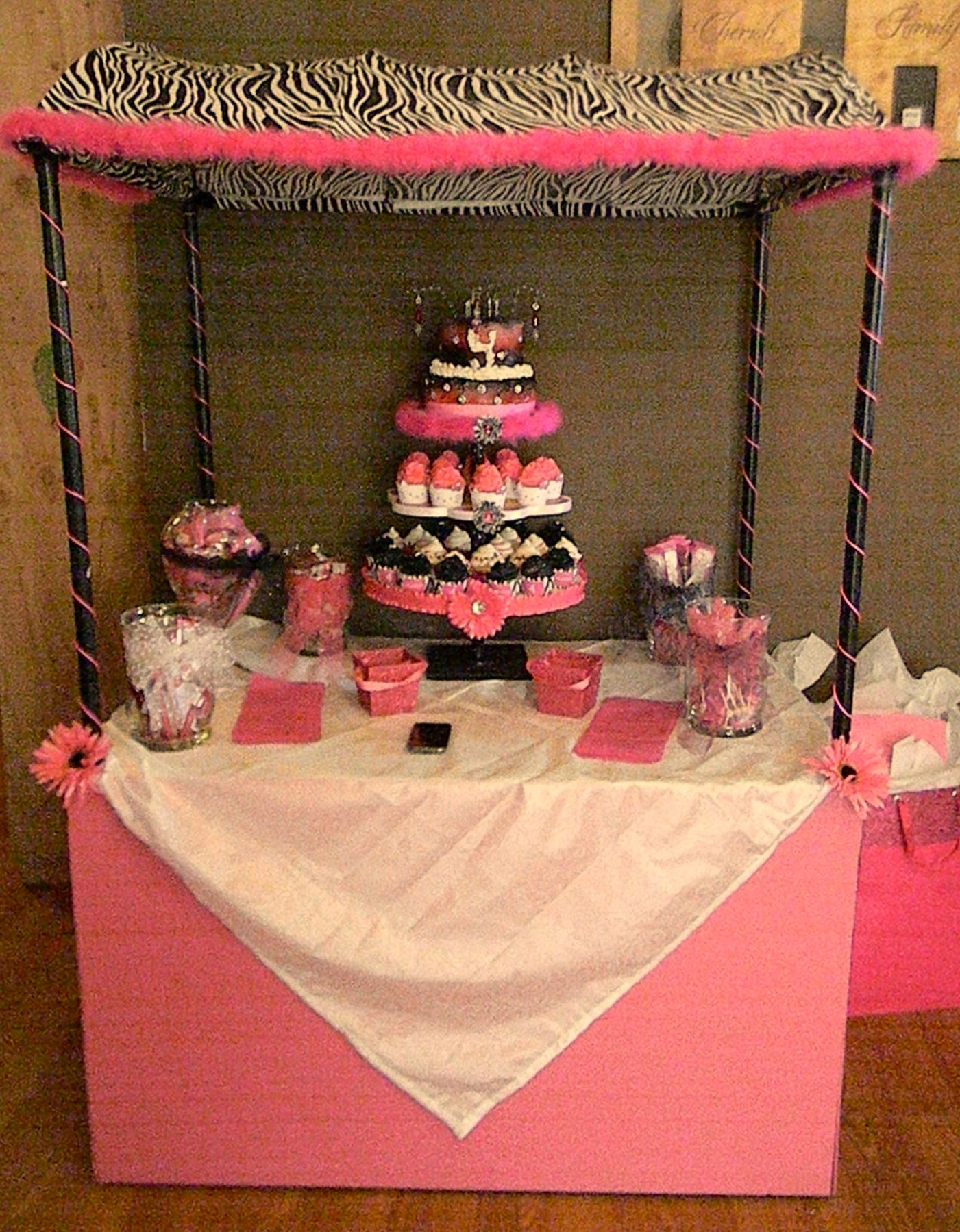 Hubby made this for my daughters 4th Hello Kitty birthday party!