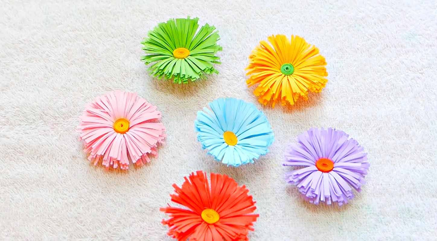 Make These Super Easy Diy Paper Flowers In Just 5 Minutes Do It