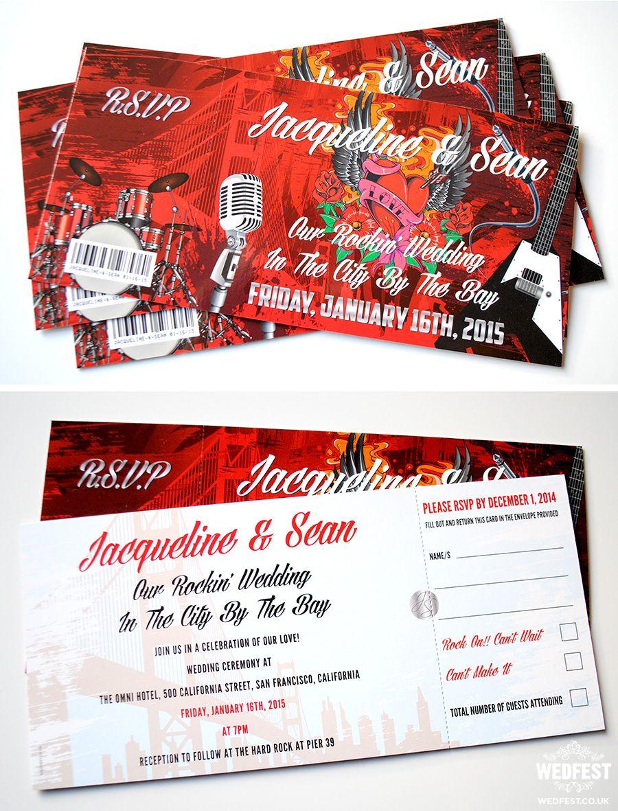 Rock n Roll wedding invite http://www.wedfest.co/festival-style ...