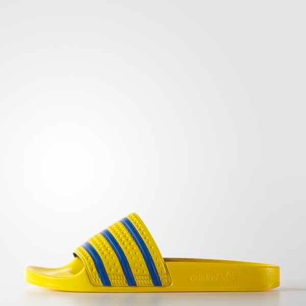 adidas Adilette Slides | Yellow/Bluebird