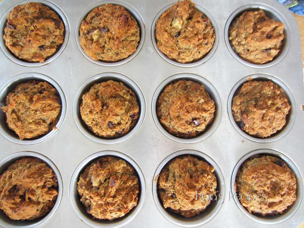 Raia's Recipes: Chocolate Chip Banana Nut Muffins {Gluten, Egg, Dairy & Refined Sugar Free}