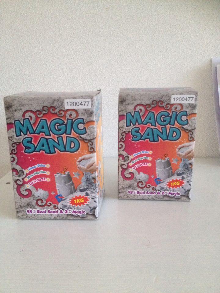 Nice magic sand verkopen ze ook bij de kwantum!