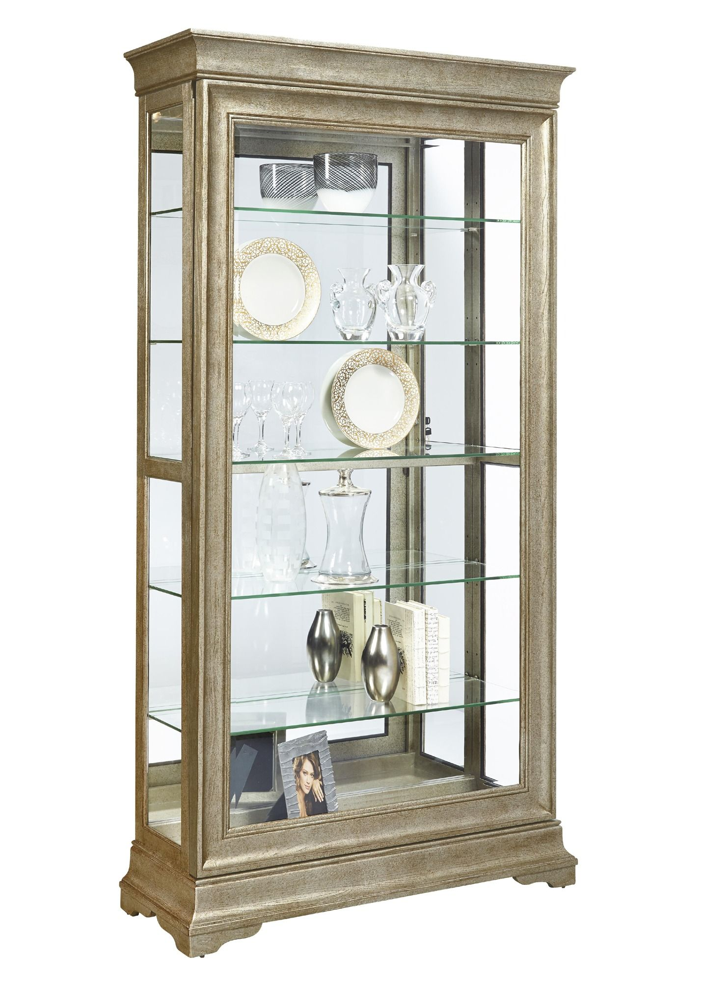 Lyon Curio Cabinet In Distressed Wood Finish By Pulaski Home Gallery Stores Servant Uyutnyj Dom Mebel