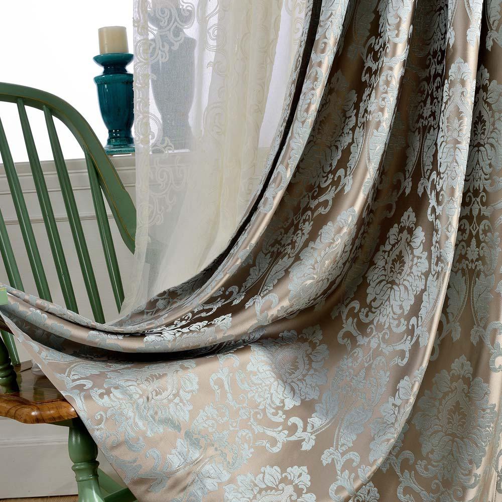Luxus Stil Vorhang Jacquard Design für Schlafzimmer in ...