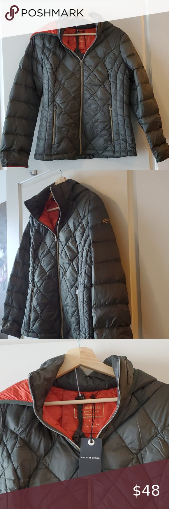 Nwt Lucky Brand Packable Down Puffer Jacket Lucky Brand Packable Jacket Jackets [ 1740 x 580 Pixel ]