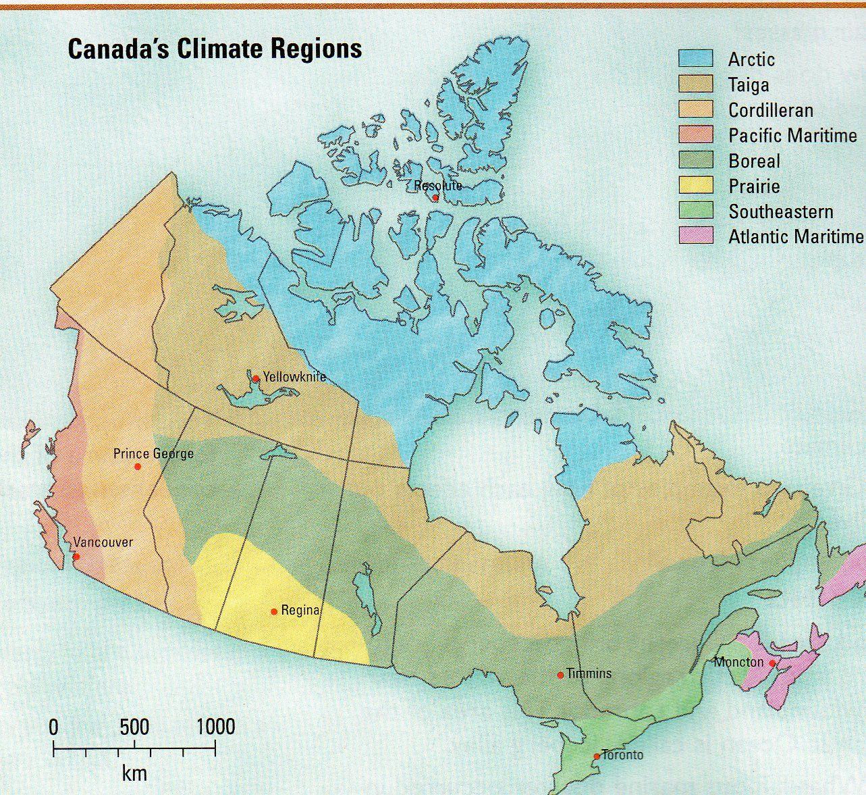 Map Of Southeast Canada.Canada S Climate Regions I Am Canadian Canada Day 150 I Am