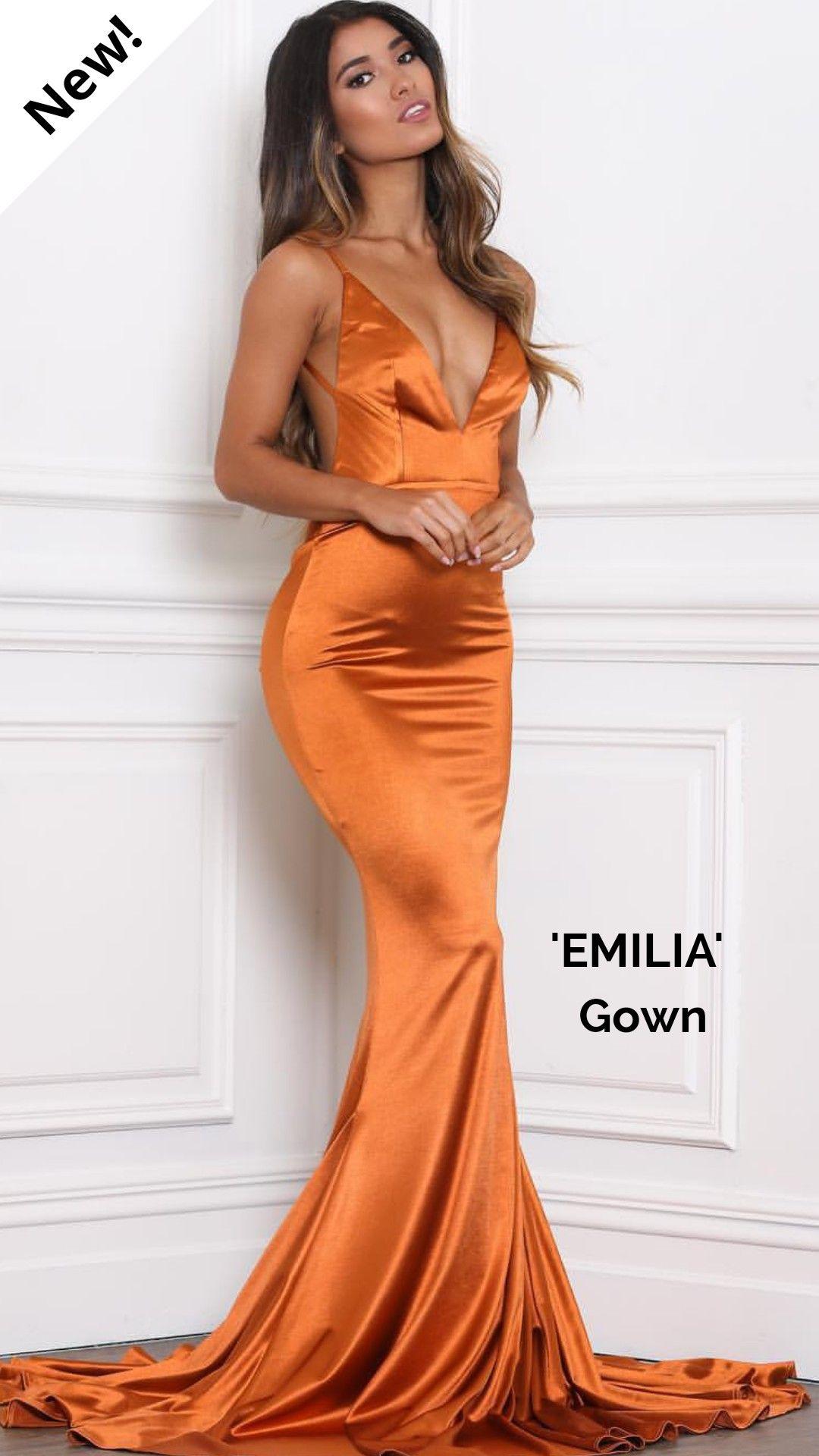50+ Orange silk dress information