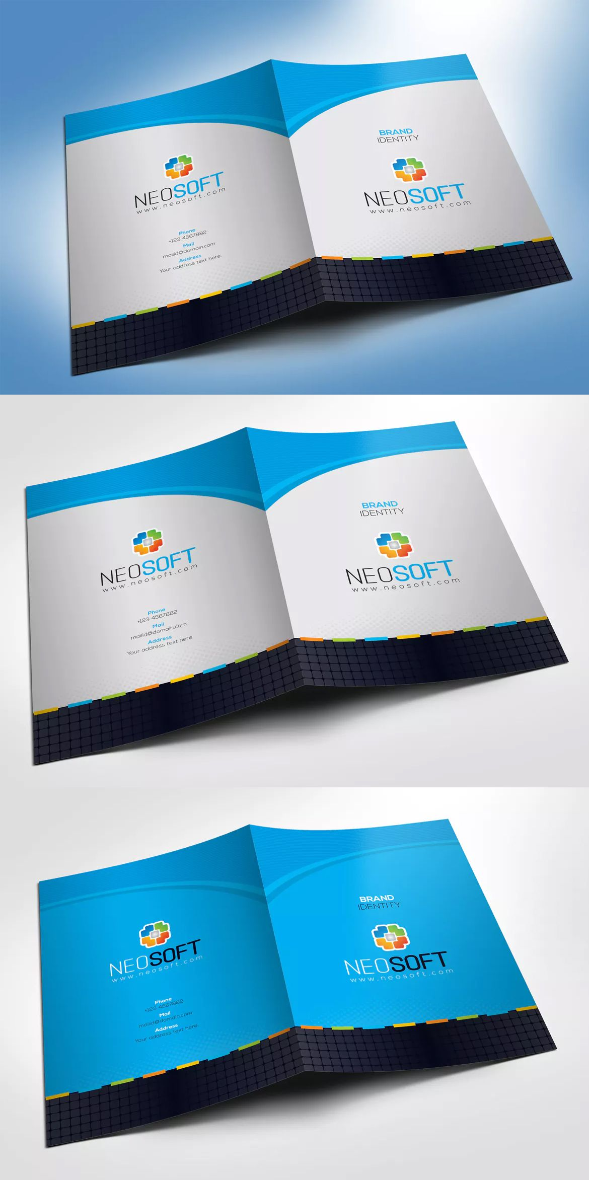 presentation folder design paper holder template eps