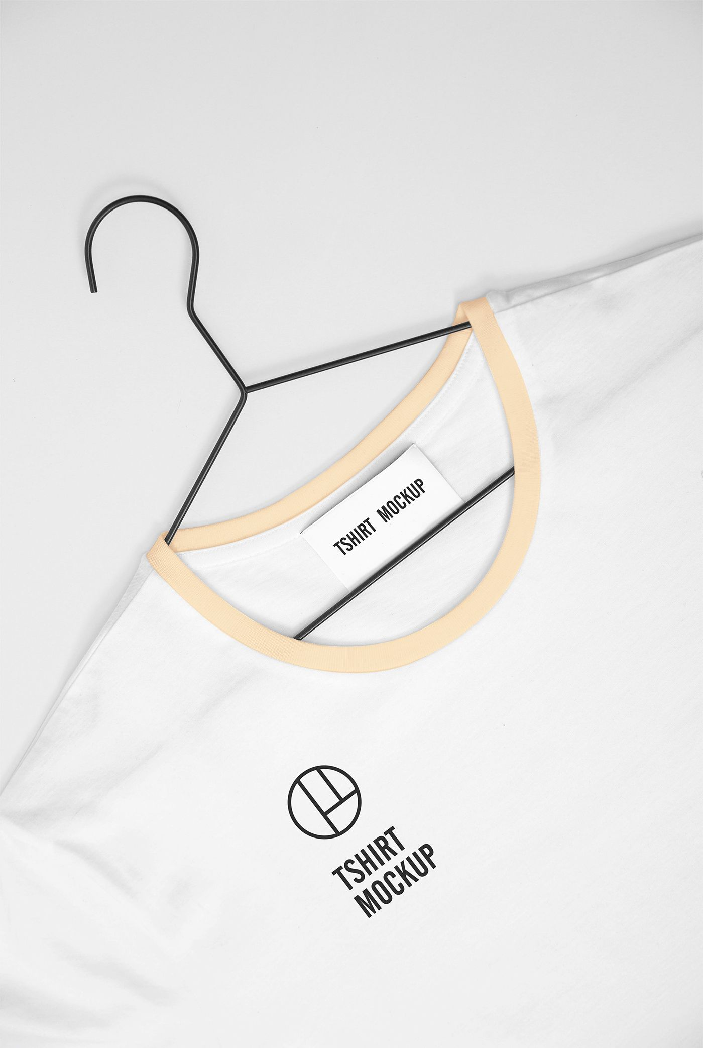 Download White Colored T Shirt Mockup For Presenting Your Design In A Realistic Way Clothes Mockup Free Tshirt Mockup Clothing Mockup
