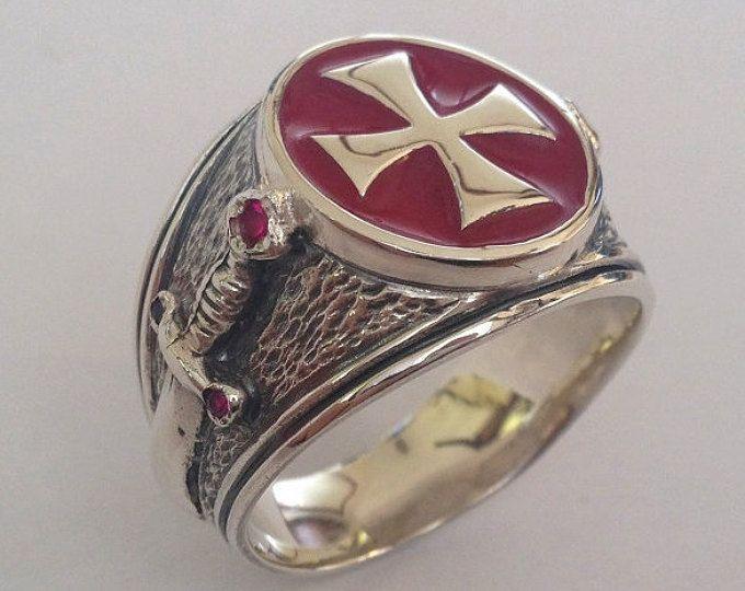 Masonic Sterling Silver 925 Ring Masons / Handmade   Comfy