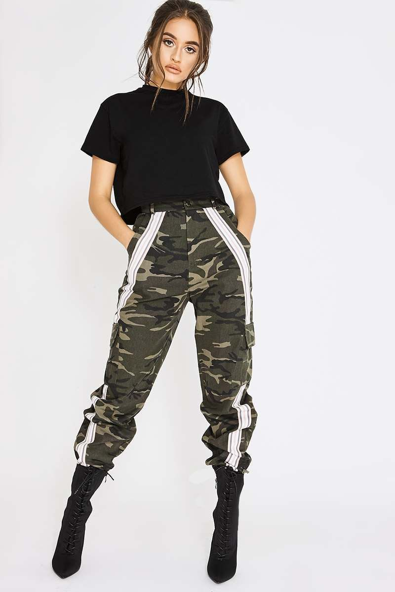 special sales discount for sale search for clearance PIA MIA KHAKI CAMO COMBAT PINK STRIPE TROUSERS | Give me ...
