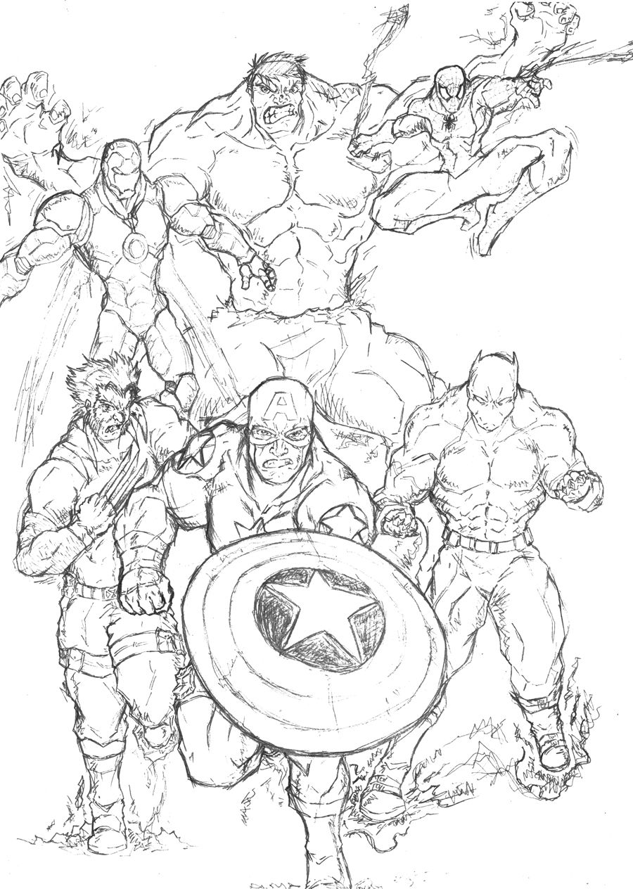 marvel super hero coloring pages