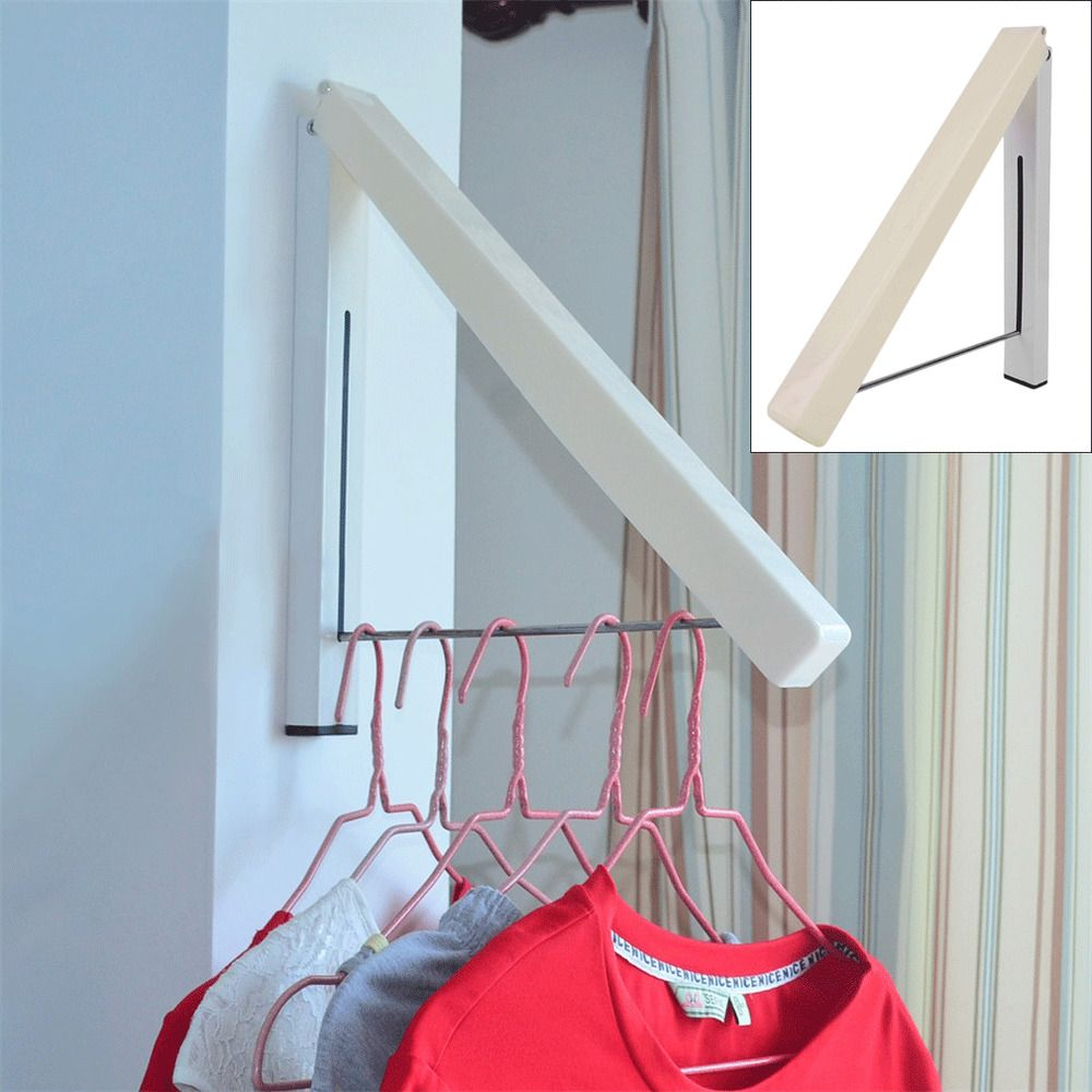 Coat Fold Away Hanger Wall Mounted Clothes Hanging Rail Dryer Rack Magic Hanger Unbranded Cabide Lavanderia Atelier
