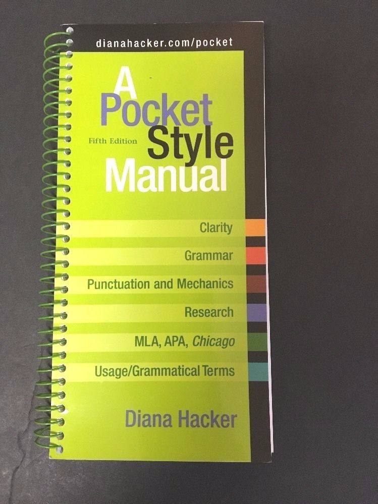 A Pocket Style Manual By Diana Hacker 2008 Paperback Spiral 5th
