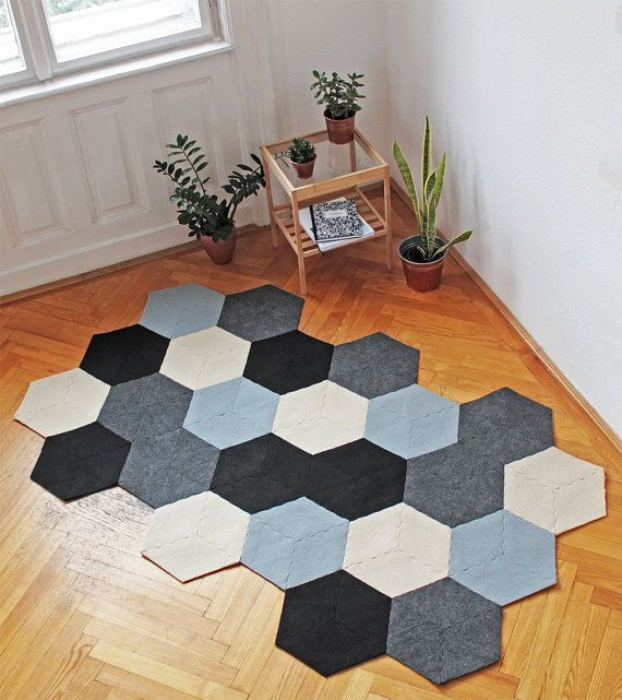 Bee Puzzle Area Rug By Recycled