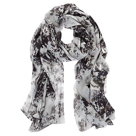 Buy Mint Velvet Anise Print Scarf, Grey Online at johnlewis.com