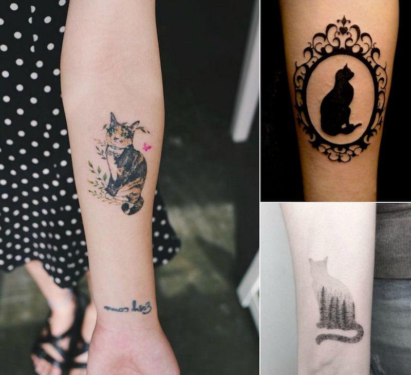 tatouage chat signification emplacement et mod les en styles vari s tattoos pinterest. Black Bedroom Furniture Sets. Home Design Ideas