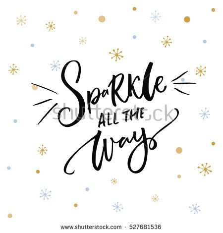 Christmas Inspiration Quote. Black Typography On White Background With  Golden