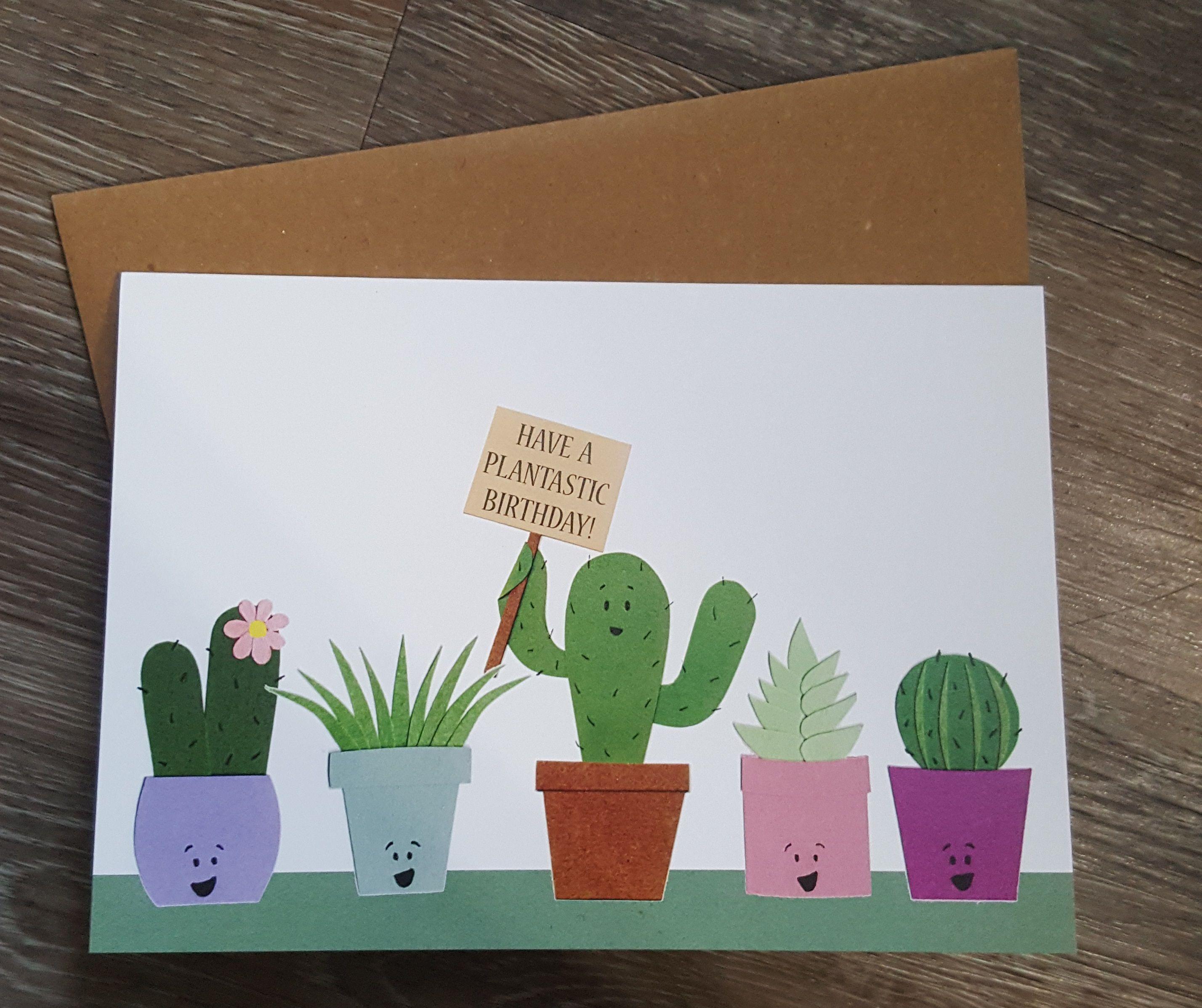Birthday Greeting Card Happy Birthday Card Funny Birthday Card Cute Card Plant Cards Houseplants Birthday Card For Friend Plants Birthday Cards For Friends Funny Birthday Cards Birthday Card Craft